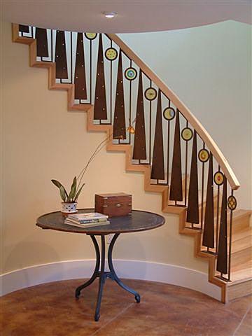 Functional art - Steel stair railing design ...